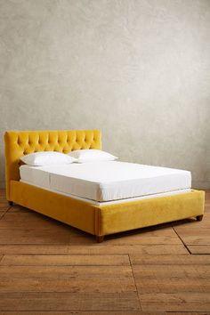 Velvet Tufted Lena Bed - anthropologie.com