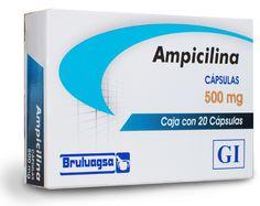 AMPICILINA (ANTIBIÒTIC). PA: ampicilina INDICACIONES: Infección ORL, respiratoria, odontoestomatológica, gastrointestinal, genitourinaria, de piel y tejido blando, neurológica, cirugía, traumatología, meningitis bacteriana y septicemia.