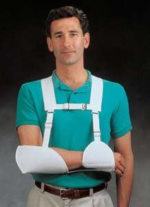 Harris Hemi Arm Sling - Left by North Coast Medical. $35.99. CVA, humeral fractures or shoulder/girdle weakness. Designed to prevent the straps from slipping. Hand wash and air dry. Harris Hemi Arm Sling D-ring sternum strap makes this sling easy to don and doff. This comfortable arm sling is designed to prevent the straps from slipping or riding u the neck. Works well for clients who are rehabilitating from CVA, humeral fractures or shoulder/girdle weakness. The wrist cuff ...