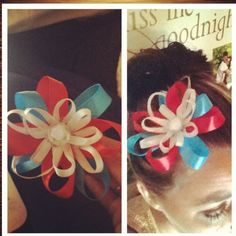 DIY hair bow I Made