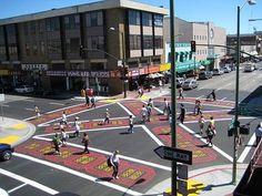 Making Pedestrian Life Easier: diagonal crosswalk
