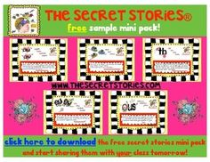 "Free SECRET STORIES Mini-Pack!!  Get them today and use them with your class tomorrow!  ....Follow for Free ""too-neat-not-to-keep"" teaching tools & other fun stuff :)"