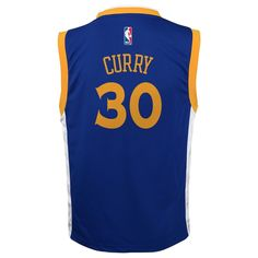 16adf00380e Boys 8-20 Golden State Warriors Stephen Curry Replica Road Jersey