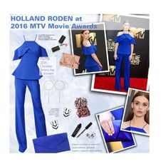 """""""HOLLAND RODEN at 2016 MTV Movie Awards"""" by federica-m ❤ liked on Polyvore featuring Christian V Siriano, Bobbi Brown Cosmetics, Sigma Beauty, NARS Cosmetics and HollandRoden"""