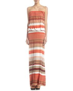 Sydney Striped Maxi Dress, Orange Cabana by Young Fabulous and Broke at Last Call by Neiman Marcus.