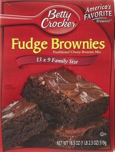 Copycat recipe: Betty Crocker Fudge Brownies mix. I made this and I would say that it is even better than the store bought box!