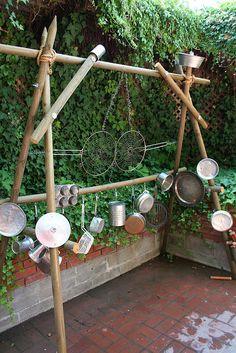 Outdoor musical frame.