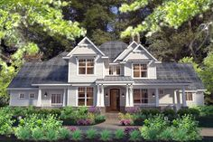 Elevation of Country   Farmhouse  Southern   Traditional   Victorian   House Plan 75133 I love this house plan.  Has craftsman elements, country and victorian!