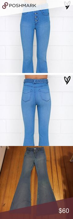Someday lovin high wasted flare jeans Never work but the tag on the outside fell off! Really awesome high wasted flare jeans. Super comfortable Blue Life Jeans Flare & Wide Leg