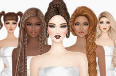 Princess Braid, Unicorn And Fairies, Peach Makeup, Barbie, Beautiful Fantasy Art, Covet Fashion Games, Little Designs, Cover Model, Girl Fashion