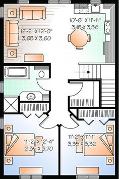 1000 images about above garage plans on pinterest for Garage with two bedroom apartment plans
