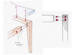 Croquis - MAGNET chaise design aimantée par Arnaud Gauthier