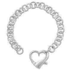 Silvertone Heart Bracelet