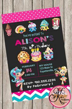 Shopkins Birthday Party Printable Invitation by KatsKreations3
