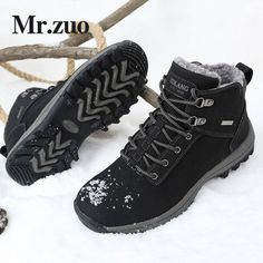 Men s Winter Sneakers 2017 Hiking Shoes boots Men Footwear Keep Warm Snow  Shoes Trekking Boots Outdoor Big Sizes 45 46 -in Hiking Shoes from Sports  ... 0e49c4218d8a
