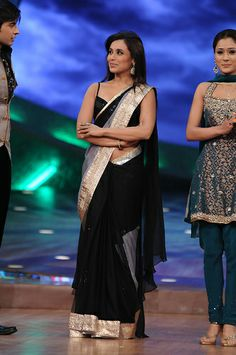 Rani Mukherjee in Black Saree