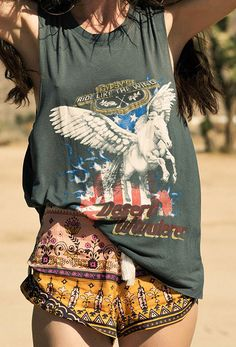Desert Wanderer Shorts – High Noon | Spell and the Gypsy Collective www.thefreedomstate.com.au
