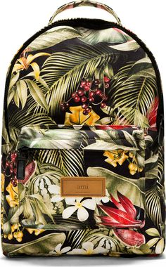 Graphic Summer Bags for the Stylish Man on the Go image Ami Green Botanical Print Backpack