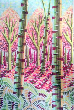 Prints and drawings by Brighton artist Peta Taylor. Year 8, Fauvism, Peta, A3, Giclee Print, October, Printing, Trees, Drawings