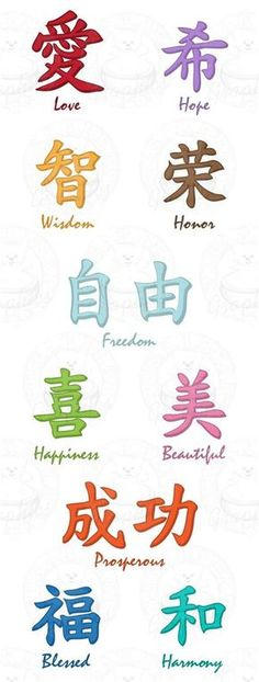 Limited Set of 12 Chinese Words tattoo insperation? Chinese Symbol Tattoos, Japanese Tattoo Symbols, Japanese Symbol, Chinese Symbols, Japanese Words, Chinese Love Symbol, Japanese Tattoo Words, Chinese Letter Tattoos, Japanese Kanji