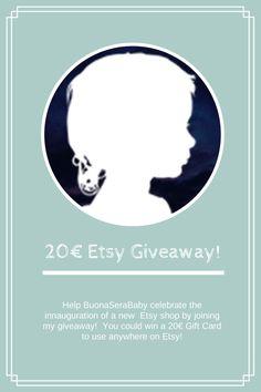 BuonaSeraBaby: 20€ Etsy Gift Card Giveaway - 20€ Carta Regalo Etsy