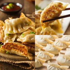 Dumplings - Potstickers Recipe Chinese Dumplings - Potstickers - are easy to make and taste SO much better when you make them homemade!Chinese Dumplings - Potstickers - are easy to make and taste SO much better when you make them homemade! Healthy Snacks, Healthy Recipes, Asian Food Recipes, Japanese Food Recipes, Asian Snacks, Asian Foods, Chinese Dumplings, Thai Dumplings, Asian Cooking