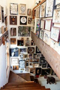 this is tempting to take all my paintings and put them together in the stairway