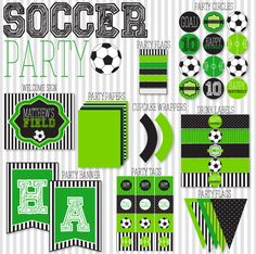 8 Best Images of Free Soccer Printables - Soccer Birthday Party Free Printables, Free-Printable-Soccer-Cupcake-Toppers and Soccer Party Printables Free Soccer Birthday Parties, Football Birthday, Soccer Party, Sports Party, Football Parties, 7th Birthday, Football Soccer, Party Printables, Free Printables