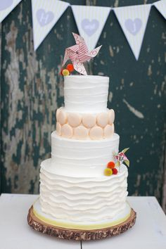 a playful spin on the classic wedding cake
