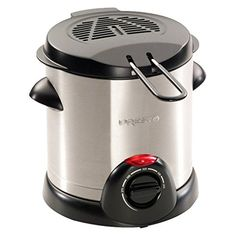 Presto 05470 Stainless Steel Electric Deep Fryer, Silver - Great product and price.When you find a recommended product for small deep fryer revie Electric Deep Fryer, Specialty Appliances, Small Kitchen Appliances, Kitchen Gadgets, Kitchen Ware, Kitchen Small, Kitchen Items, Brushed Stainless Steel, Kitchens