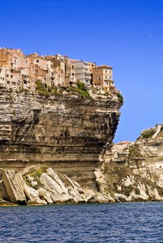 Bonifacio, Corsica, France..stayed for a couple of nights in a house on the cliffs years back...very cool! :-)