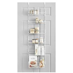The SALT Over-the-Door Deluxe Household Pantry Organizer easily mounts over a…