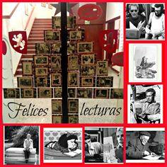 La Biblioteca Manuel Alvar (Zaragoza) desea a sus usuarios: Felices fiestas, felices lecturas. #Navidad 2014. Puerta de acceso.