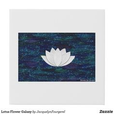Lotus Flower and Blue Galaxy #zazzle