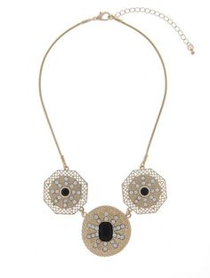 Majique geometric jewelled necklace in UAE | Souq Fashion | Souq