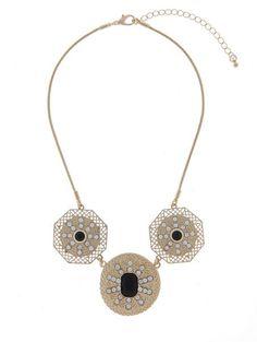 Majique geometric jewelled necklace in UAE | Souq Fashion | Souq