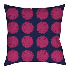 "Manual Woodworkers & Weavers Pod Dots Printed Throw Pillow Size: 16"" H x 16"" W x 4"" D"