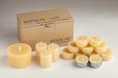 The new Back to Basics range from Northern Light candle company Australia; the world's finest organic beeswax candles in minimal, sustainable packaging