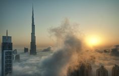 cloudscape over Dubai