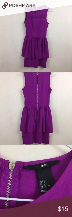 Purple Peplum Dress Peplum dress from H&M. Worn once. Size 2 H&M Dresses