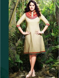 Buy trendy Cotton Kurti online at saloni fashions with different color and febrics.