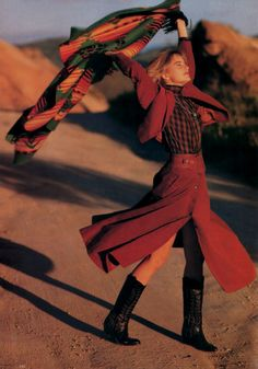 Patrick Demarchelier for Mademoiselle magazine, August 1986. Fashion by Kenzo.