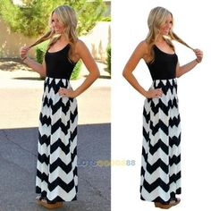 Sexy Women Summer Boho Long Maxi Evening Cocktail Party Beach Chiffon Dress #LS in Clothing, Shoes & Accessories, Women's Clothing, Dresses   eBay