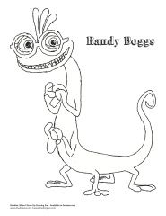 Monsters University coloring page--Randy Boggs