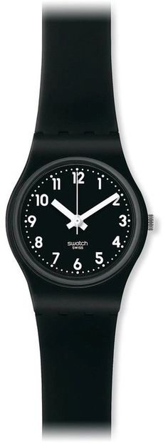 Swatch LB170 lady black dial silicone strap women watch NEW