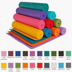 You may need a Yoga mat to start your Yoga practice, there are some great styles and colors to choose from.