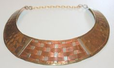 Large Tribal Collar Copper Brass Woven by AntiqueAlchemyShop, $22.50