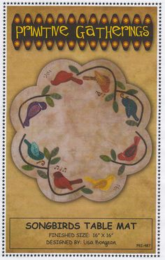 Songbirds Table Mat pattern