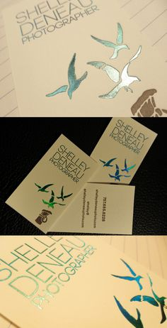 Holographic Foil Business Card For A Photographer