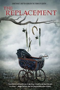 So creepy it hurts. Those dangling objects, the old pram. Love this cover.